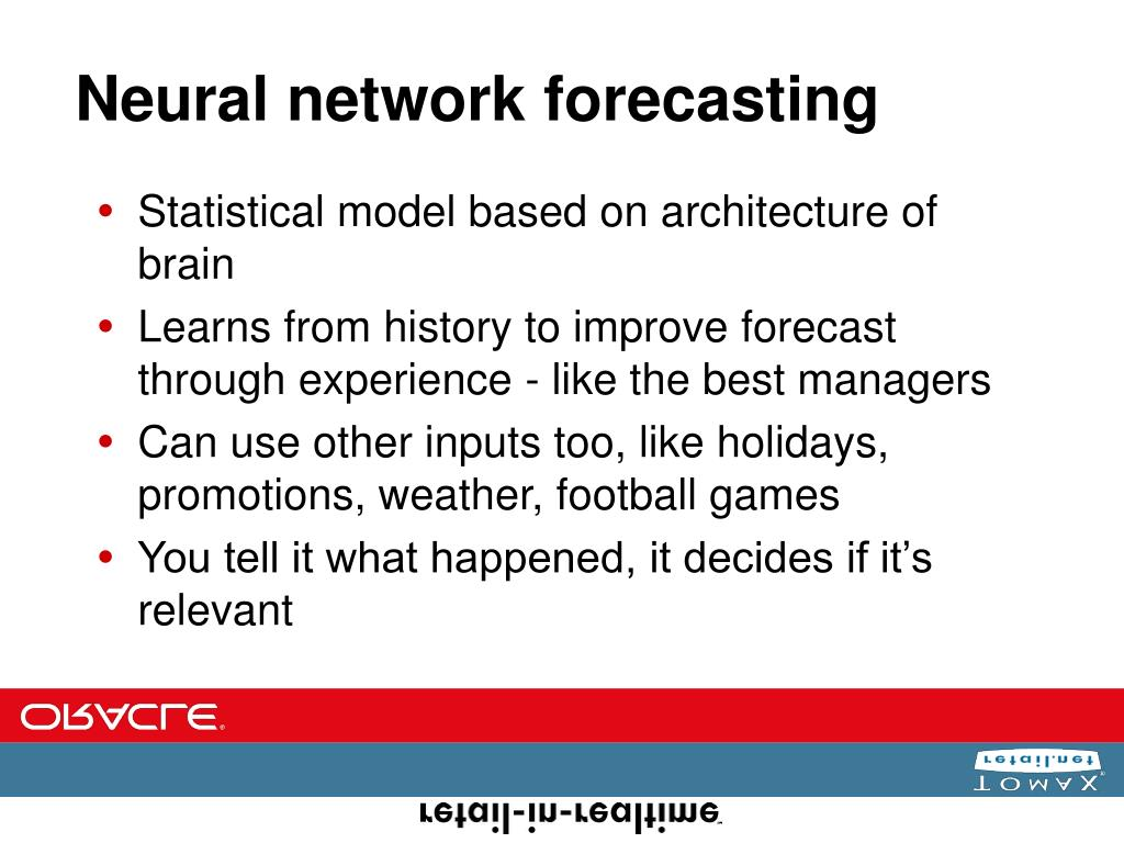 Neural network forecasting