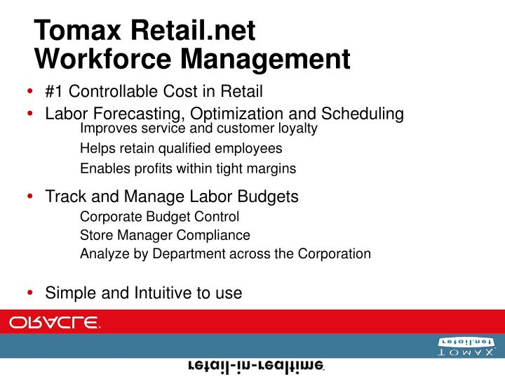 Tomax retail net workforce management