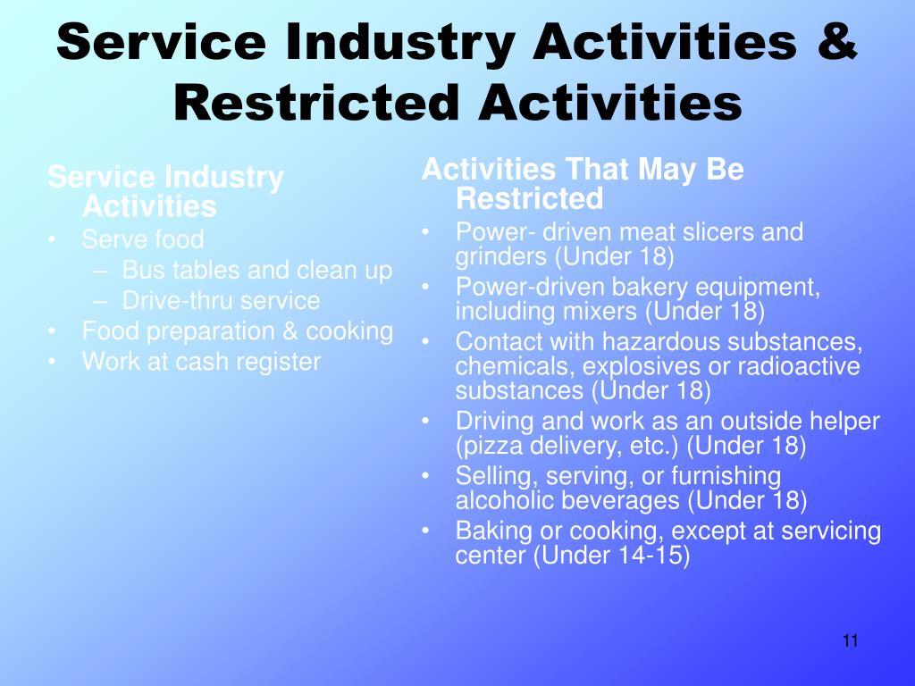 Service Industry Activities