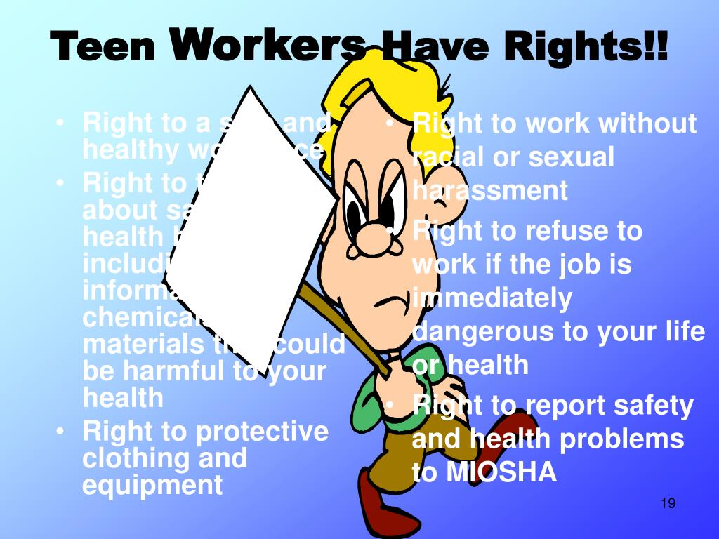 Right to a safe and healthy workplace