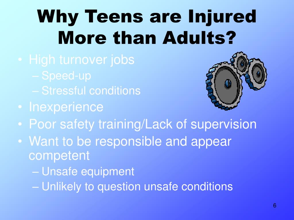 Why Teens are Injured More than Adults?