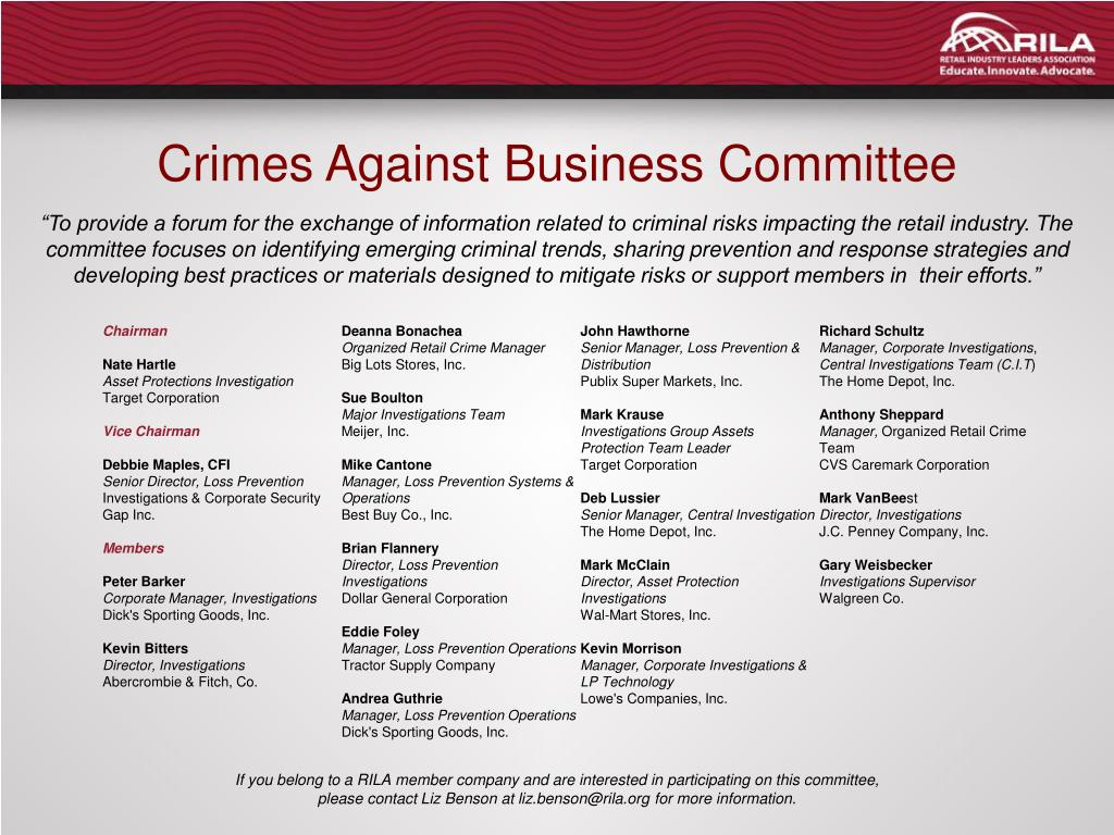 Crimes Against Business Committee