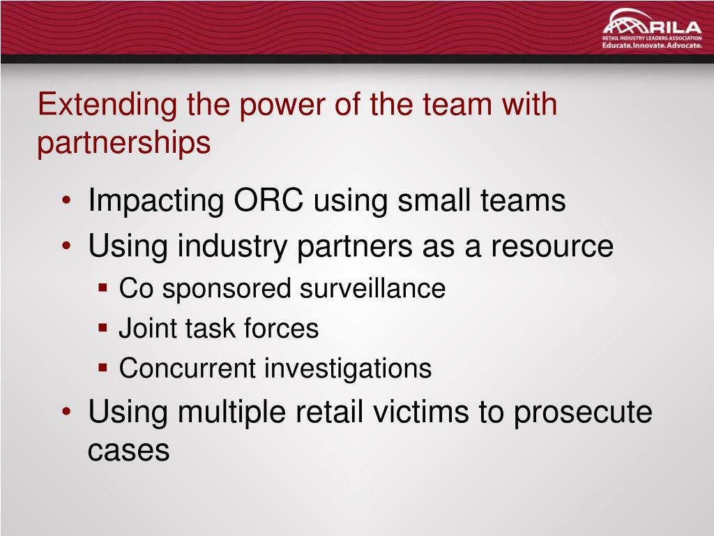 Extending the power of the team with partnerships