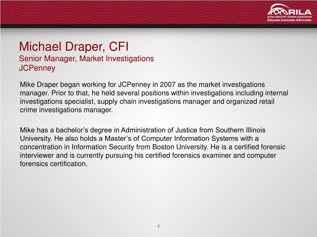 Michael Draper, CFI