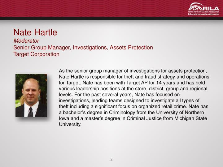 Nate hartle moderator senior group manager investigations assets protection target corporation