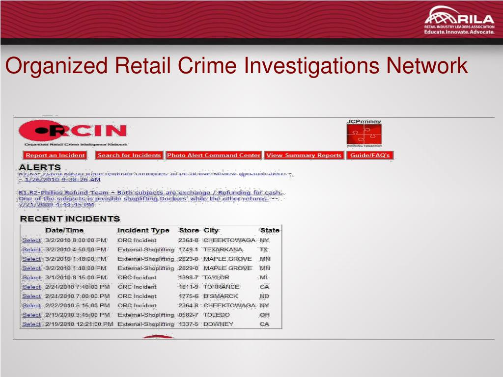 Organized Retail Crime Investigations Network