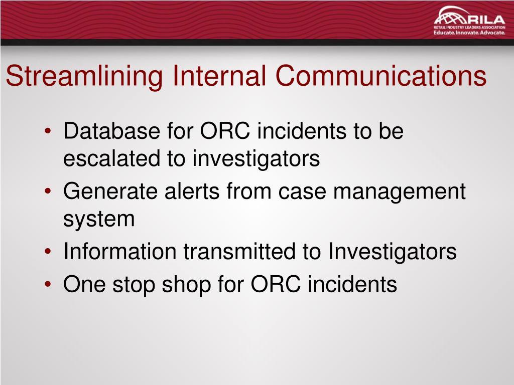 Streamlining Internal Communications