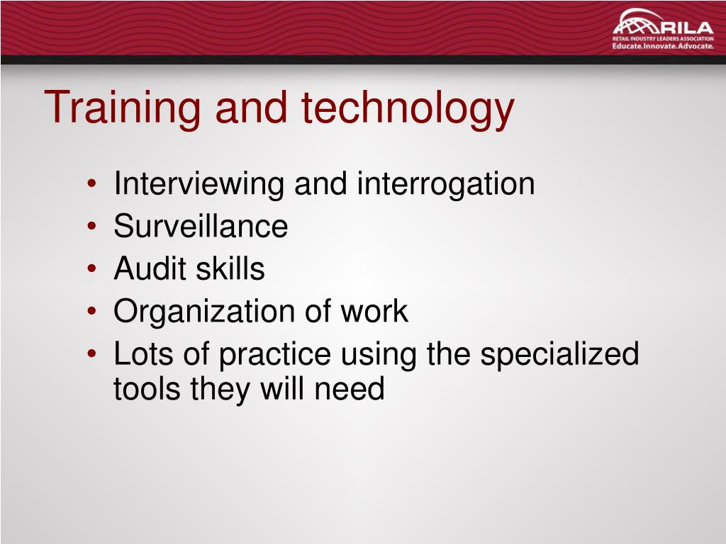 Training and technology