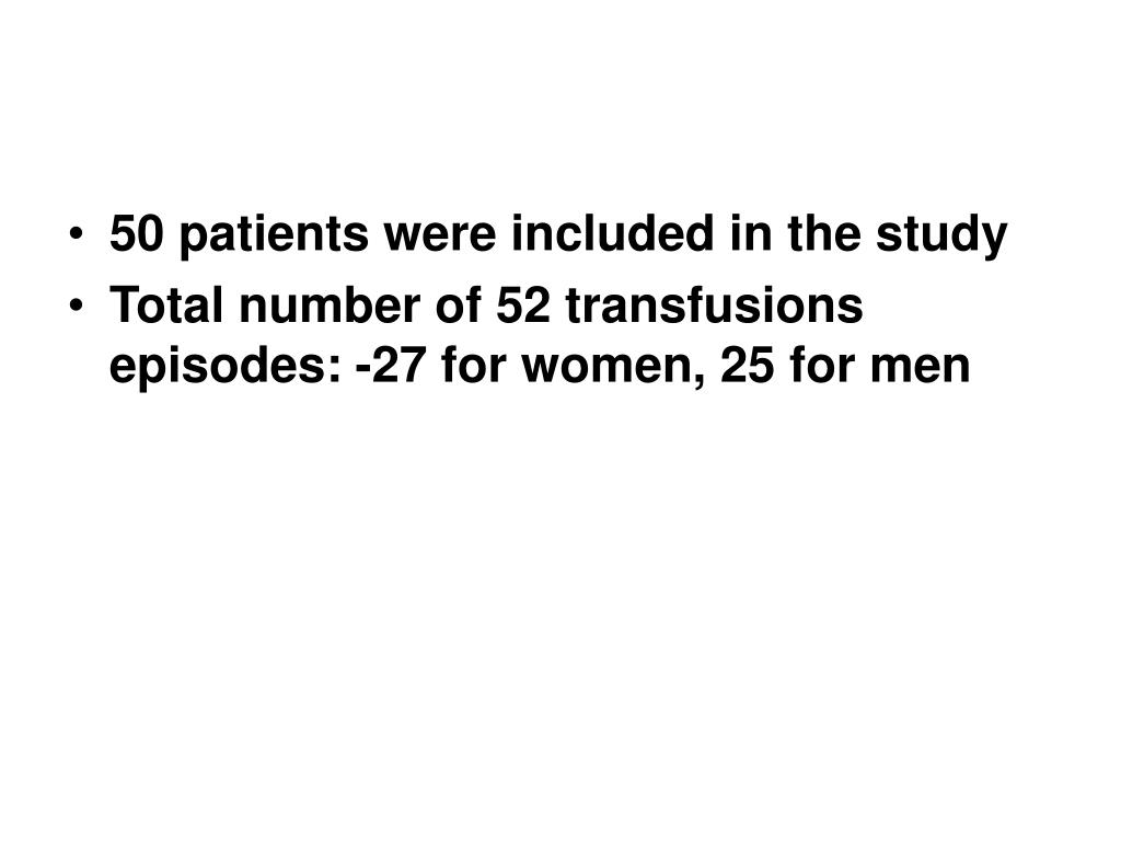 50 patients were included in the study