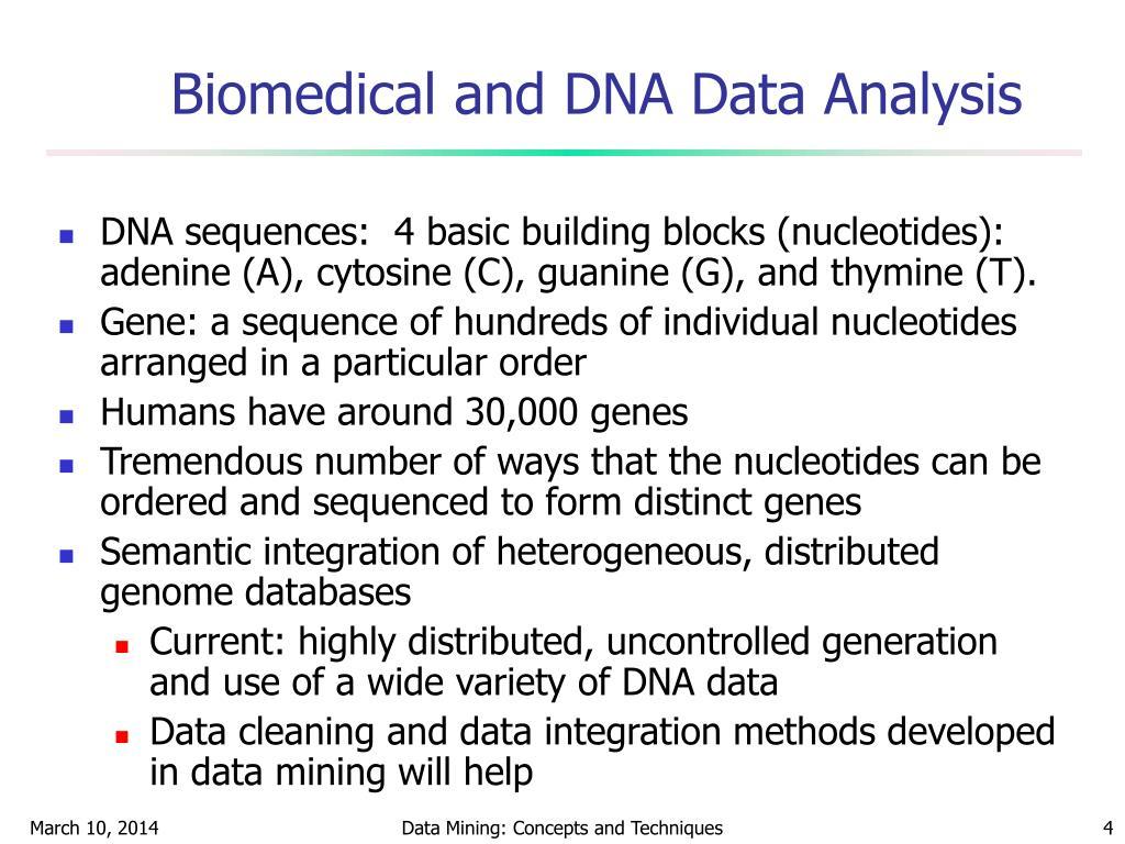 Biomedical and DNA Data Analysis