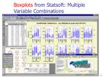 boxplots from statsoft multiple variable combinations