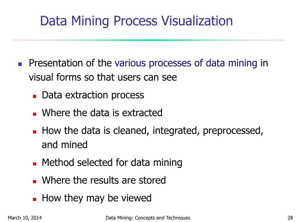 Data Mining Process Visualization