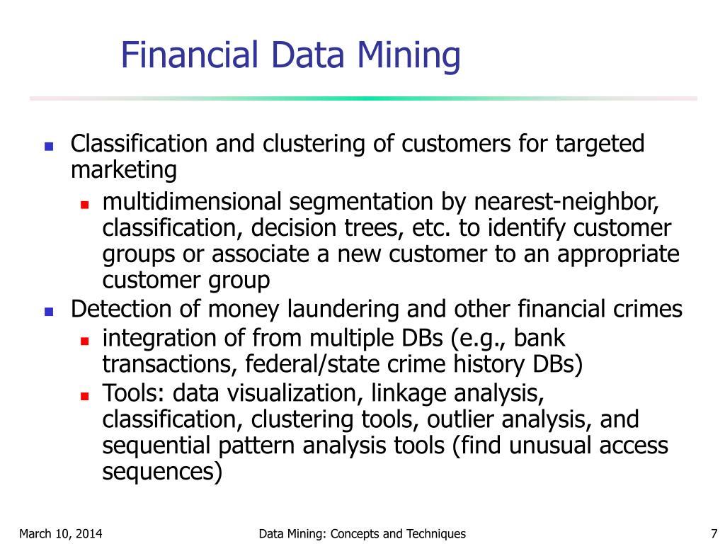 Financial Data Mining