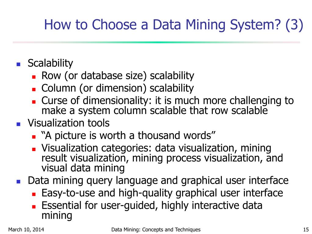 How to Choose a Data Mining System? (3)