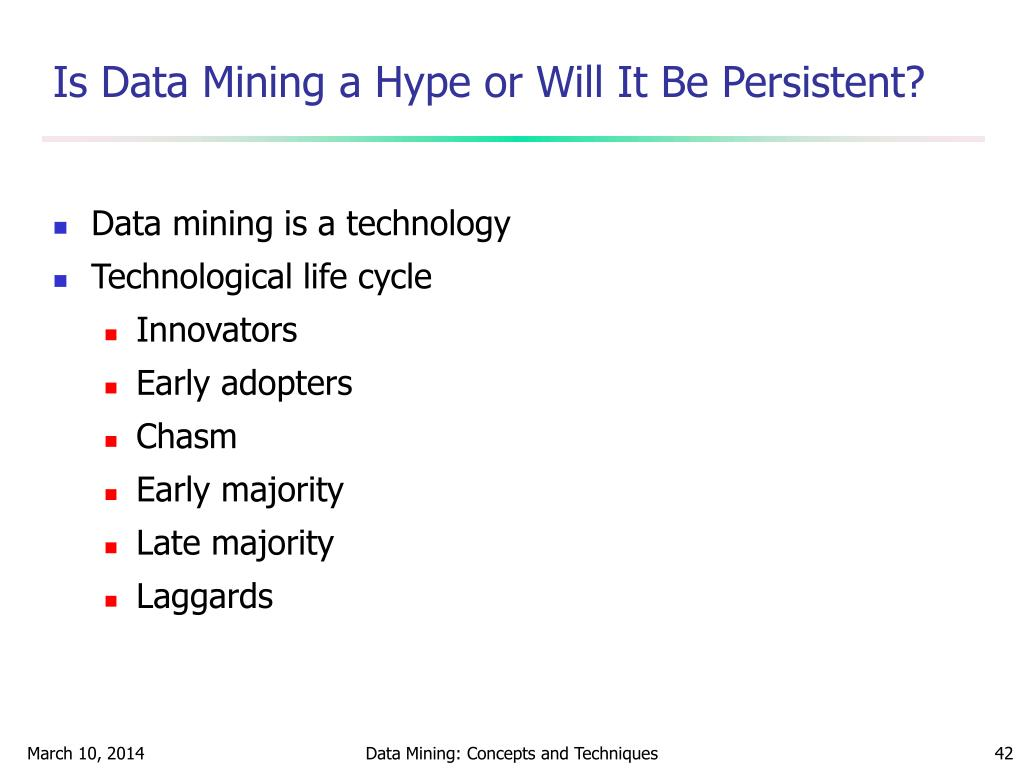 Is Data Mining a Hype or Will It Be Persistent?