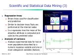 scientific and statistical data mining 3