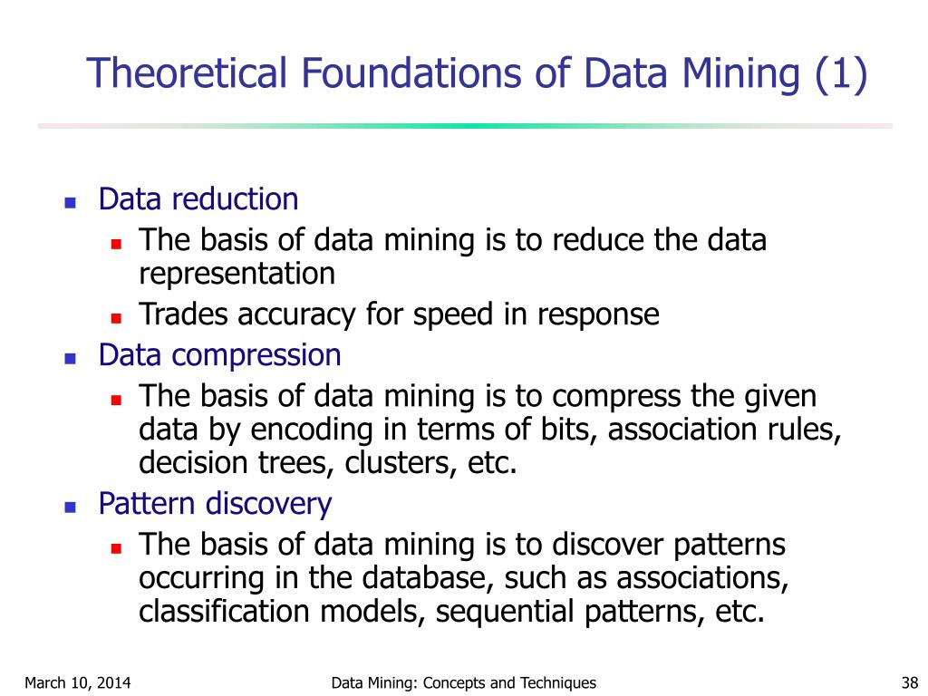 Theoretical Foundations of Data Mining (1)
