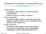 theoretical foundations of data mining 1