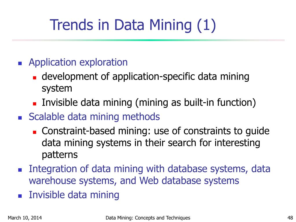 Trends in Data Mining (1)