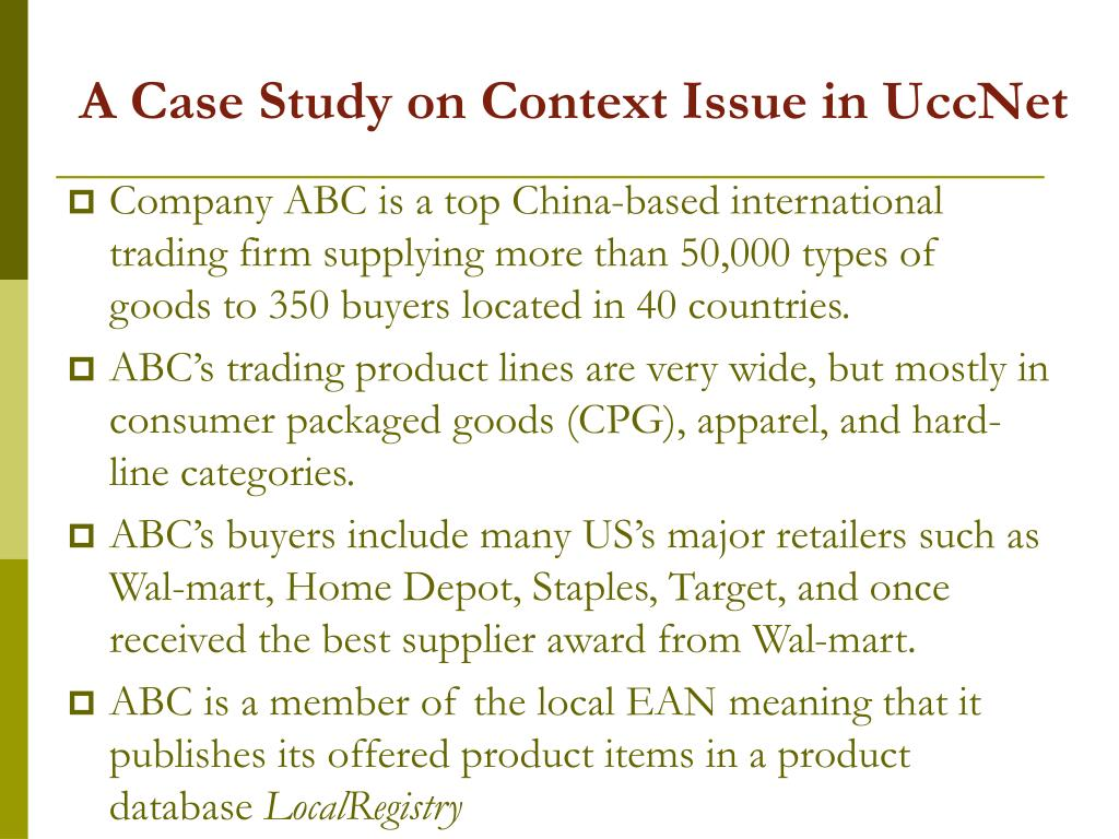 A Case Study on Context Issue in UccNet