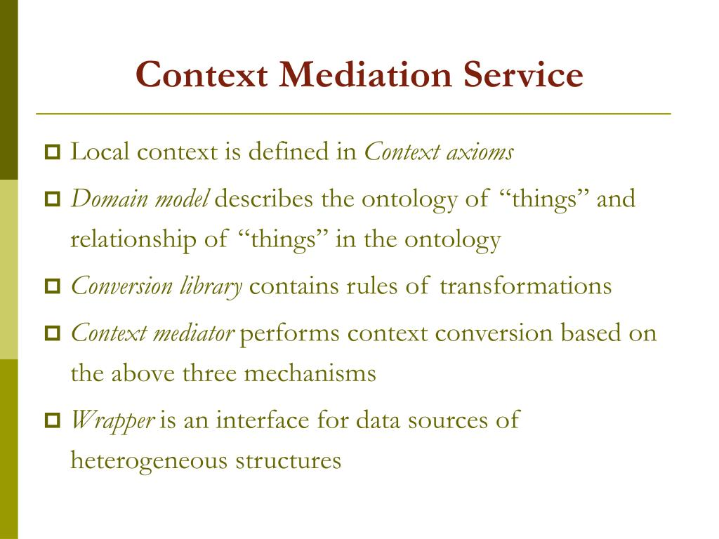 Context Mediation Service