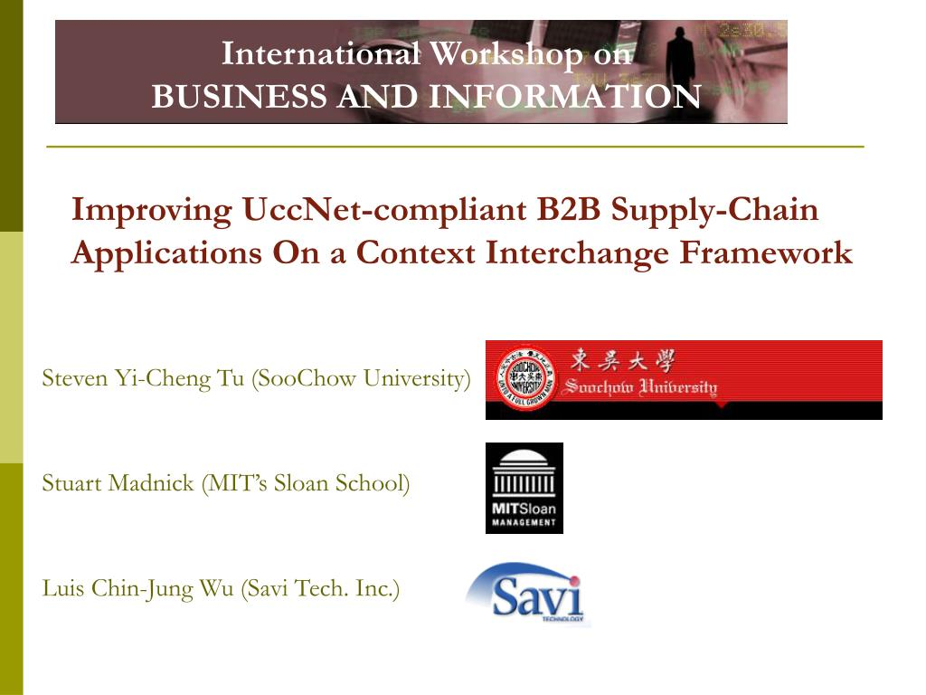 improving uccnet compliant b2b supply chain applications on a context interchange framework