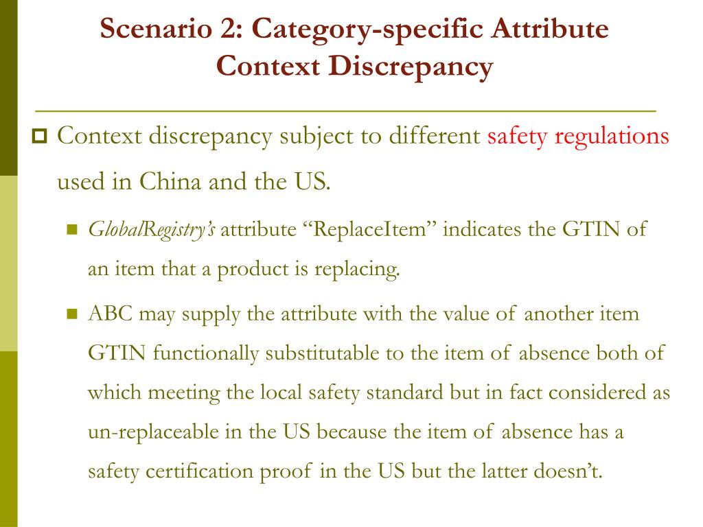 Scenario 2: Category-specific Attribute