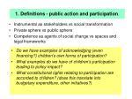 1 definitions public action and participation