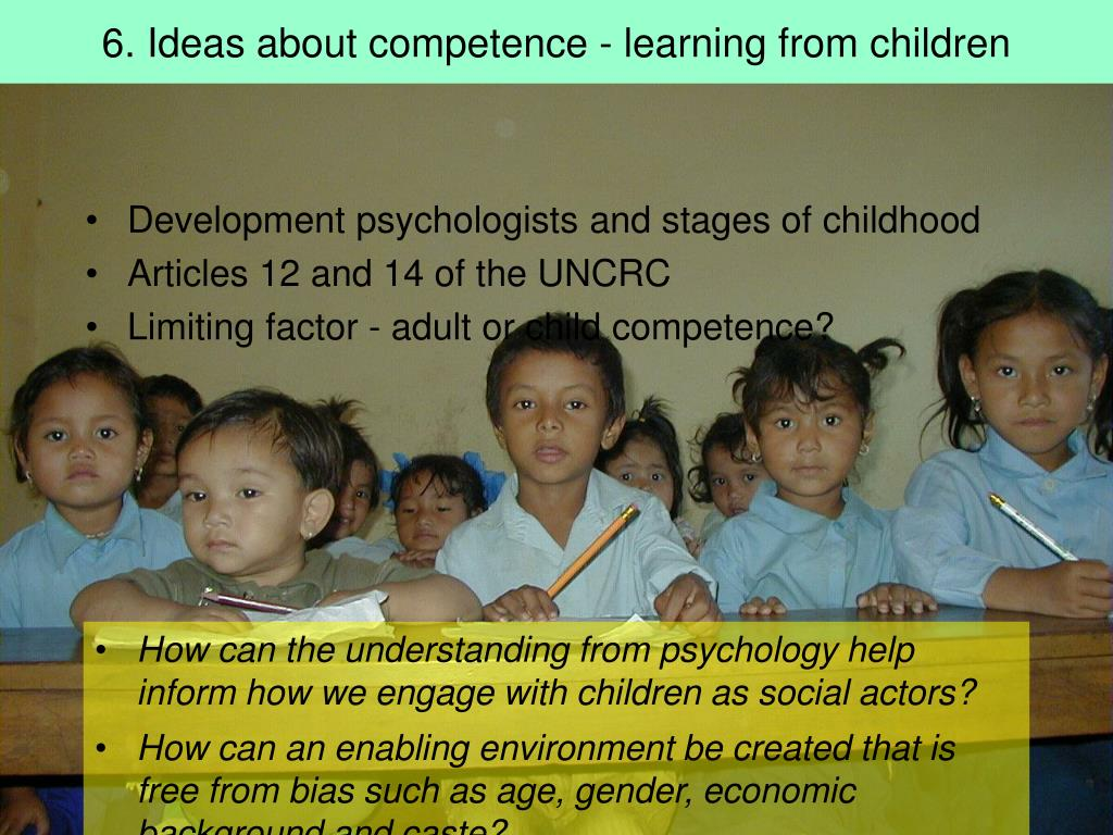 6. Ideas about competence - learning from children