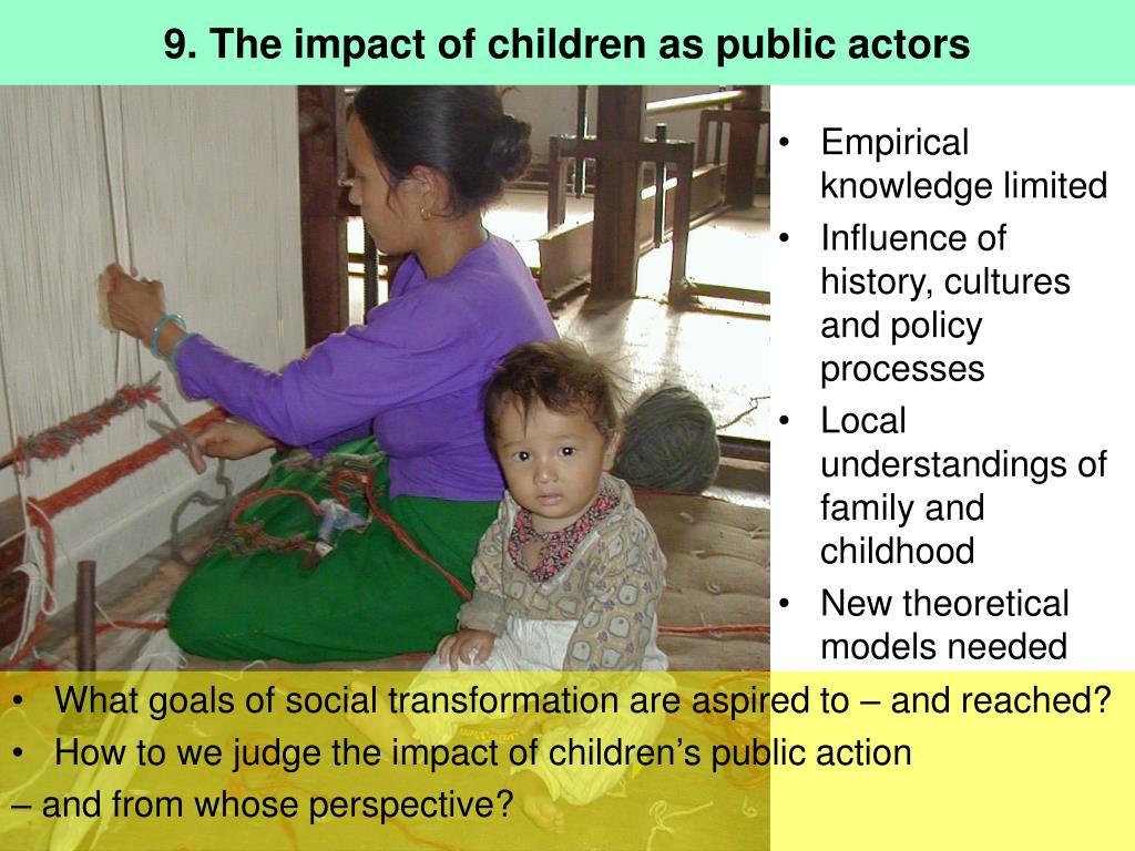 9. The impact of children as public actors