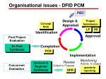 organisational issues dfid pcm