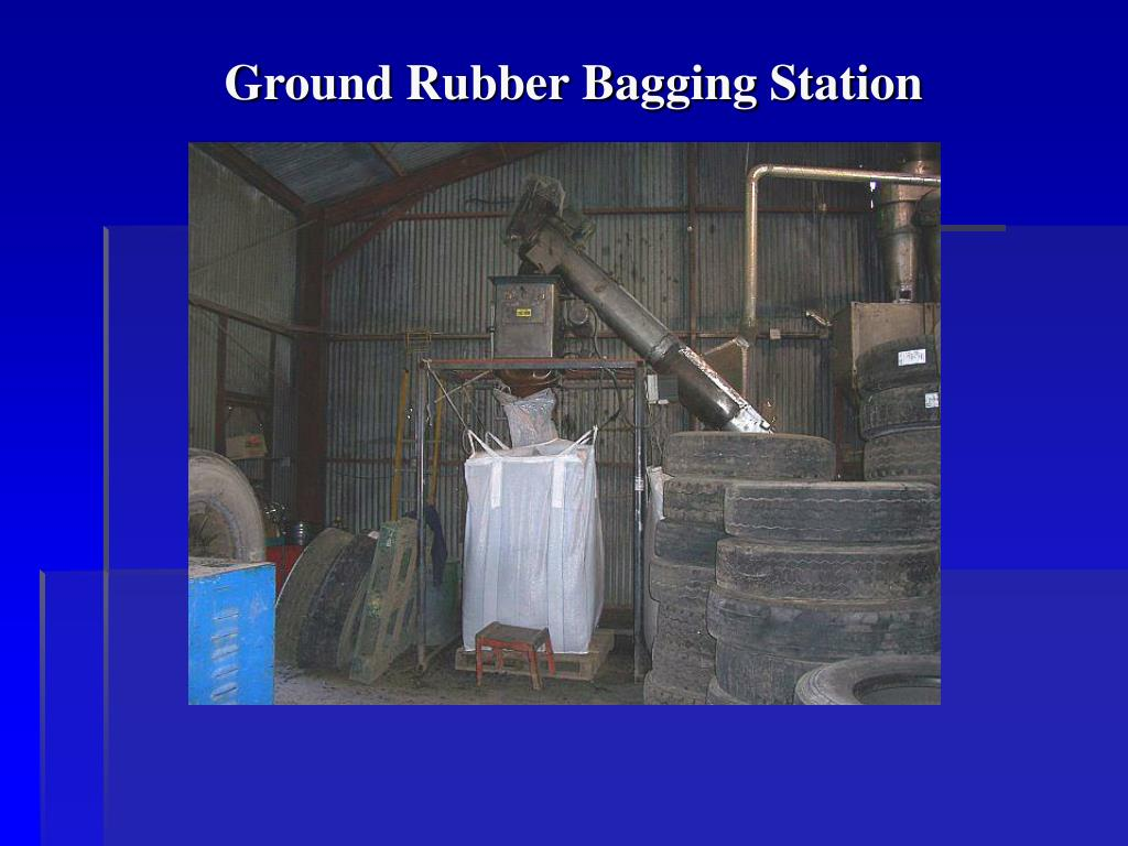 Ground Rubber Bagging Station