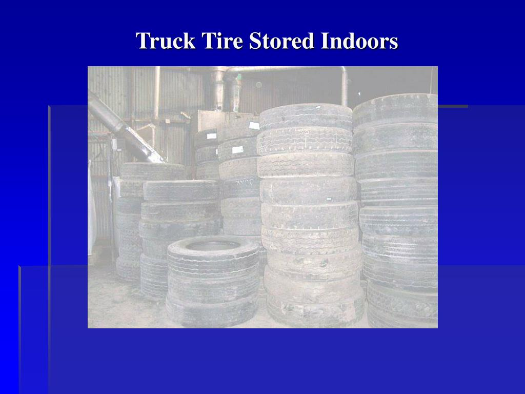 Truck Tire Stored Indoors