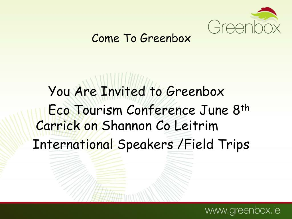 Come To Greenbox