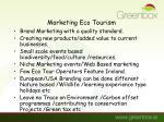 marketing eco tourism