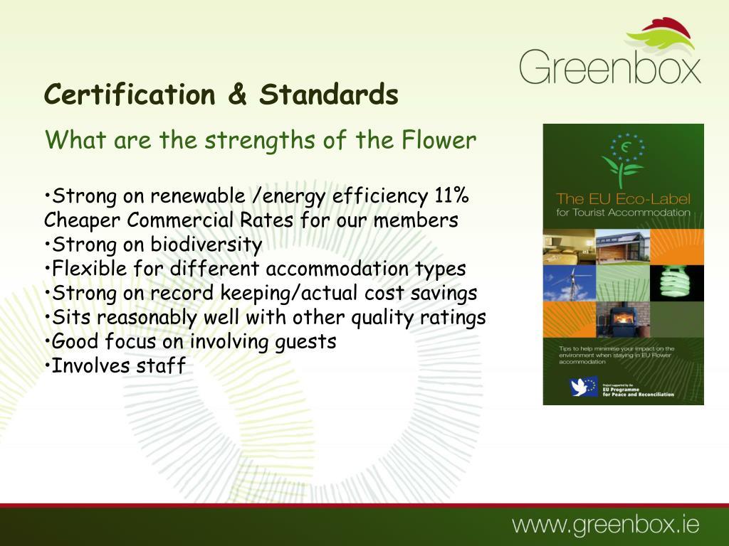 Certification & Standards