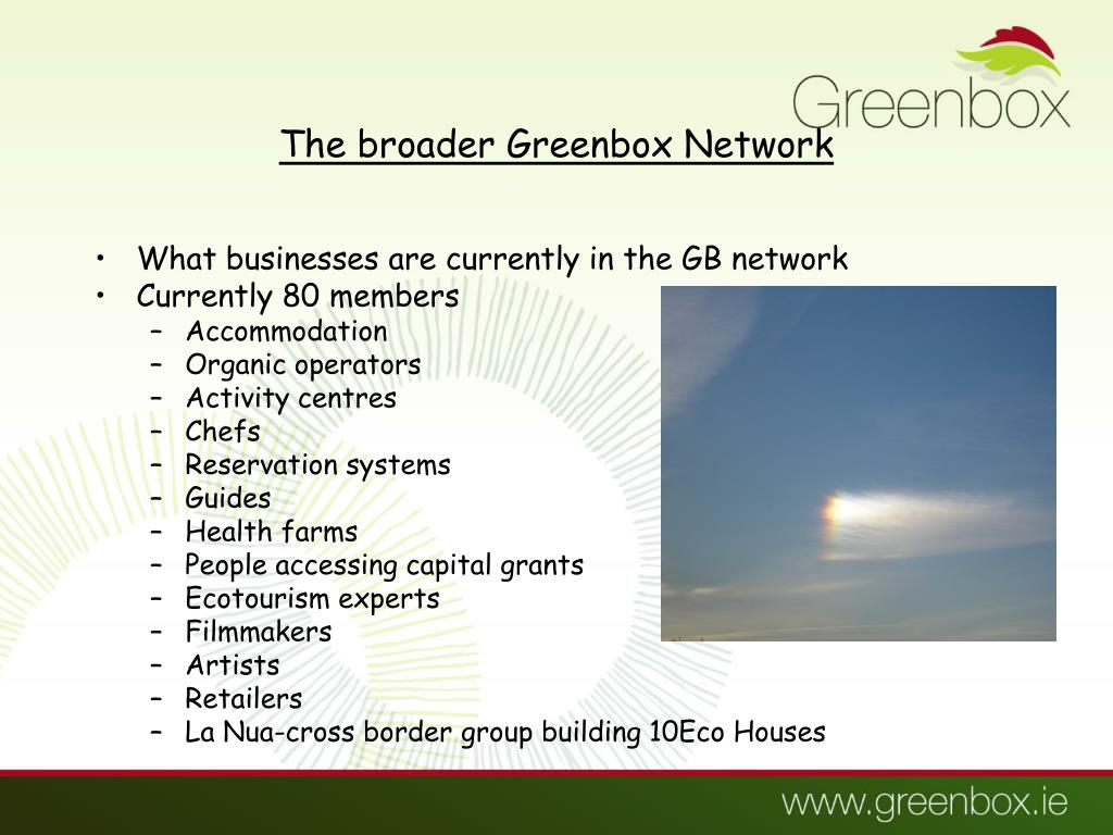 The broader Greenbox Network