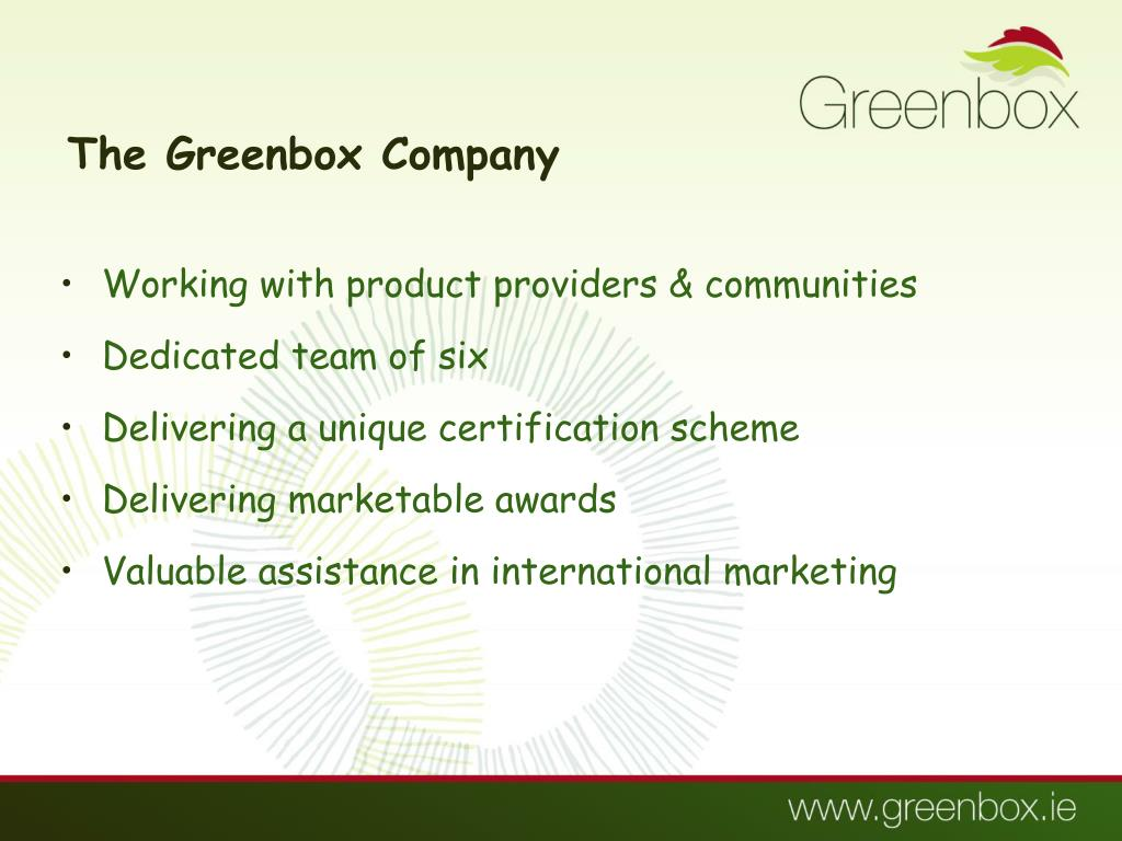 The Greenbox Company