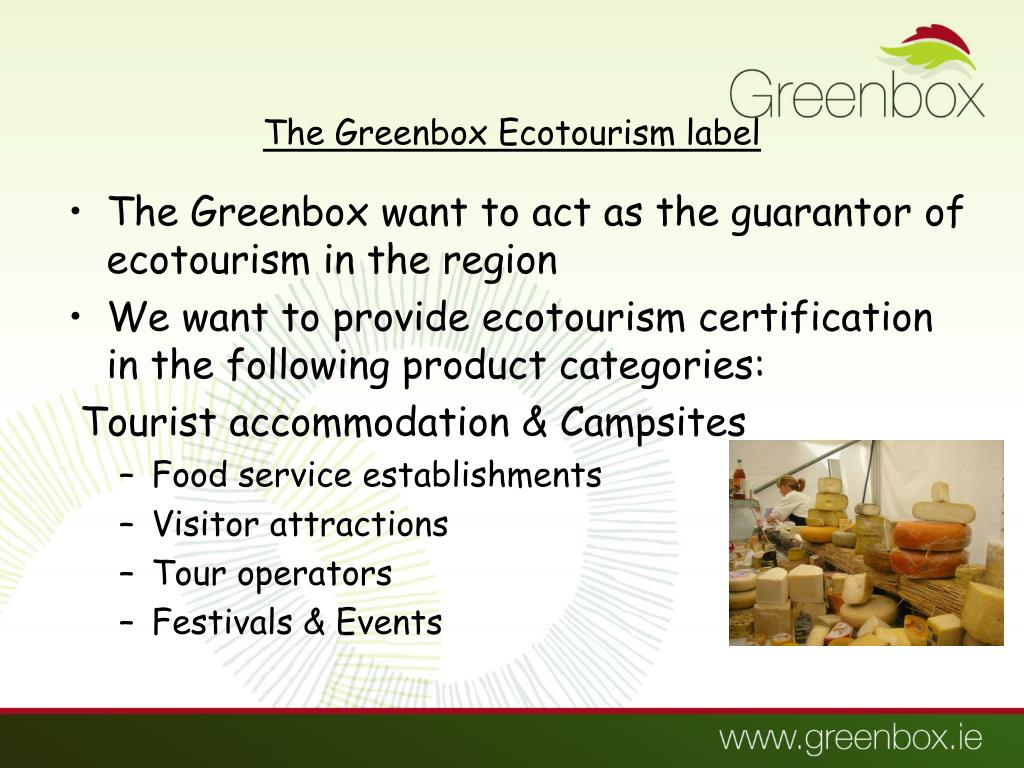 The Greenbox Ecotourism label