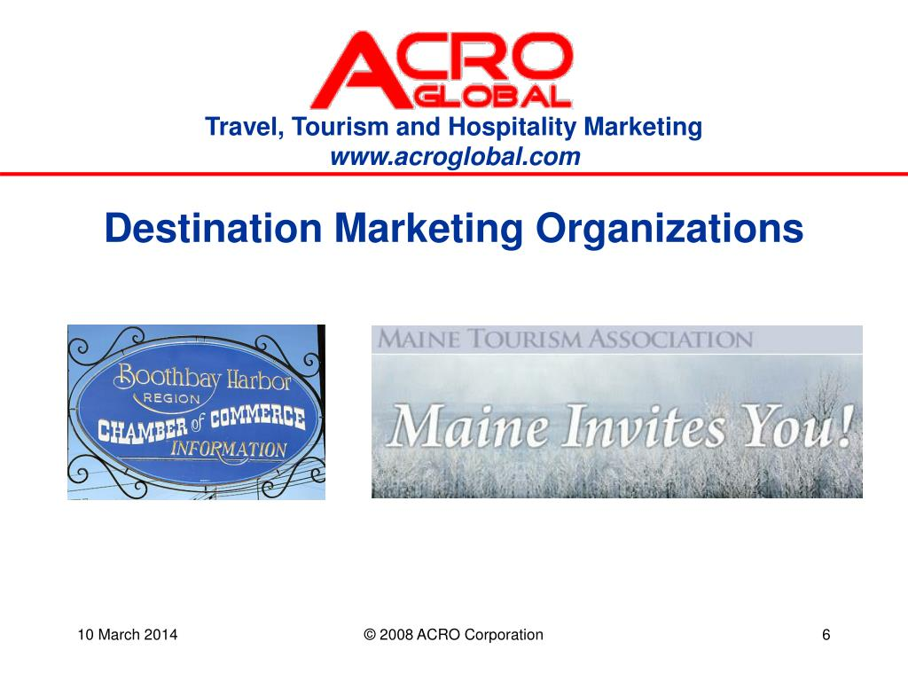 Destination Marketing Organizations