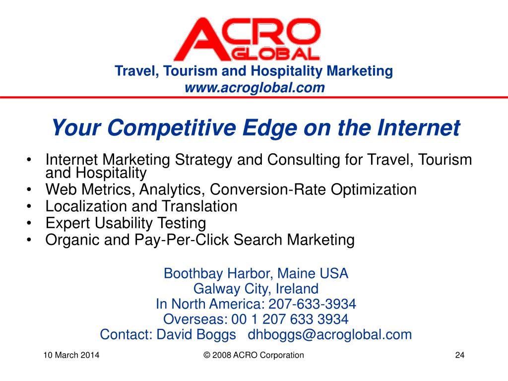 Your Competitive Edge on the Internet