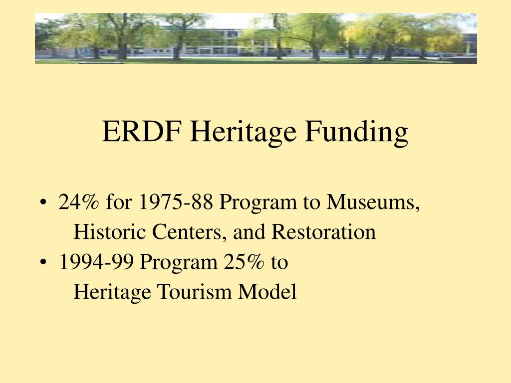 ERDF Heritage Funding