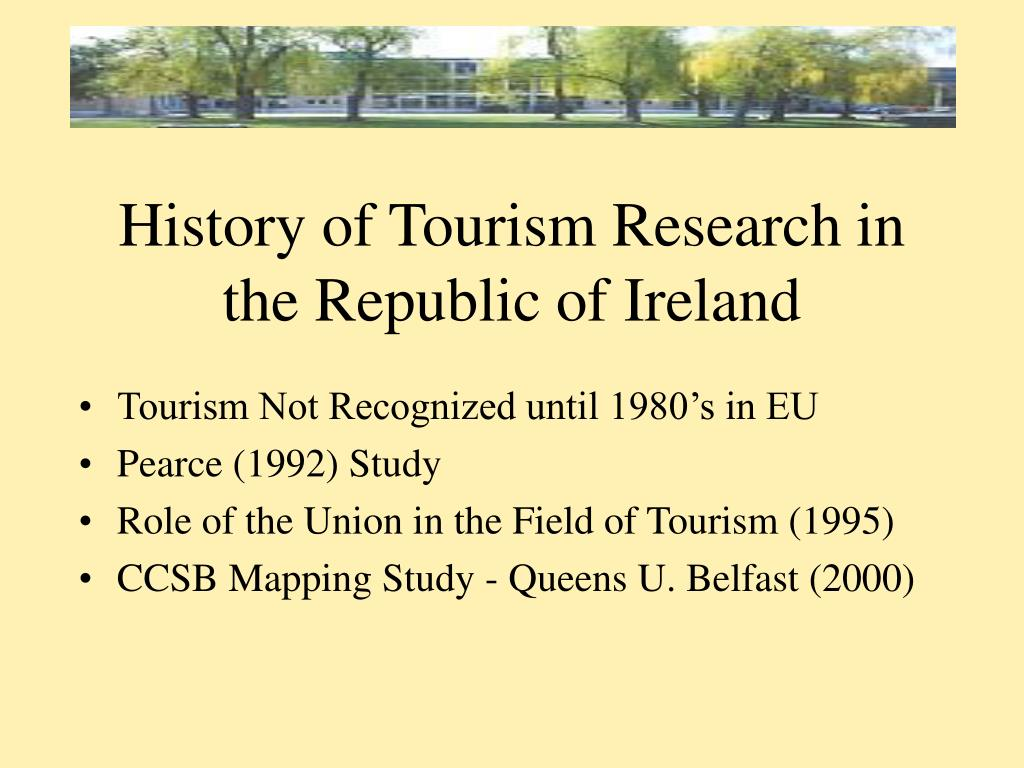 History of Tourism Research in the Republic of Ireland
