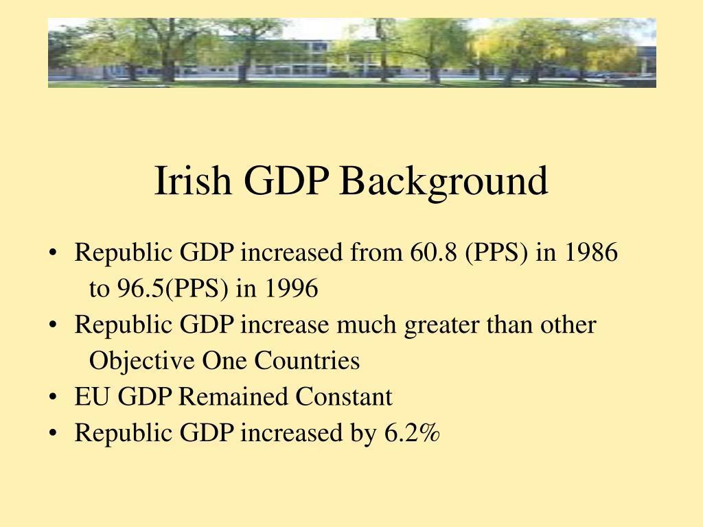 Irish GDP Background
