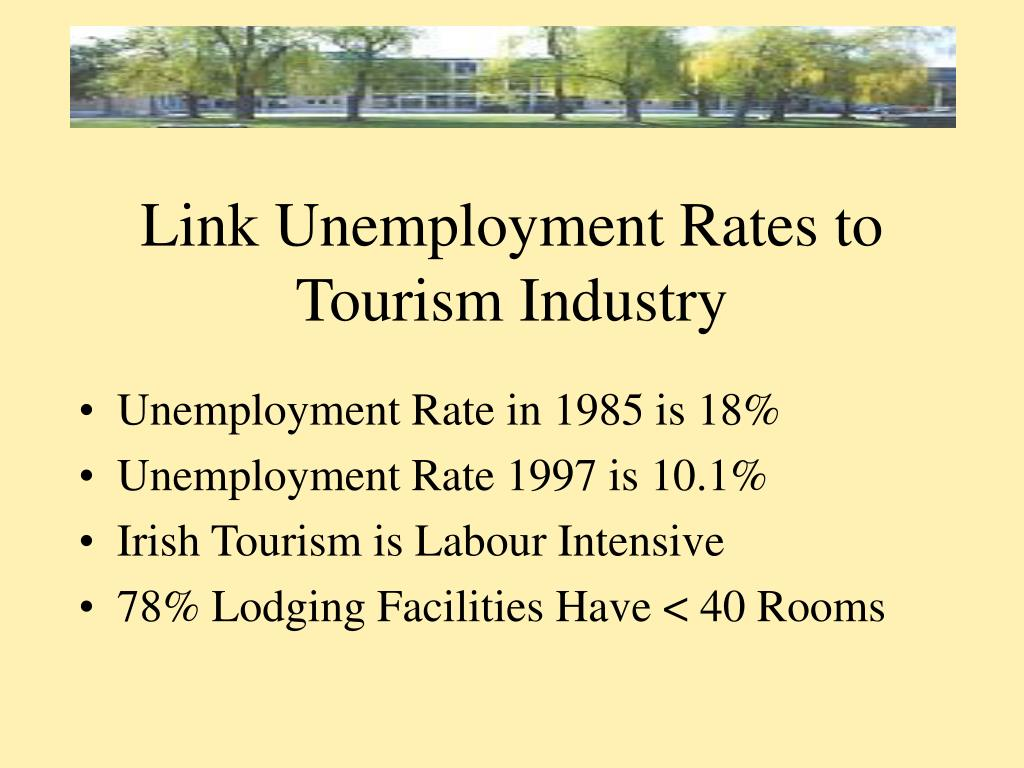 Link Unemployment Rates to Tourism Industry