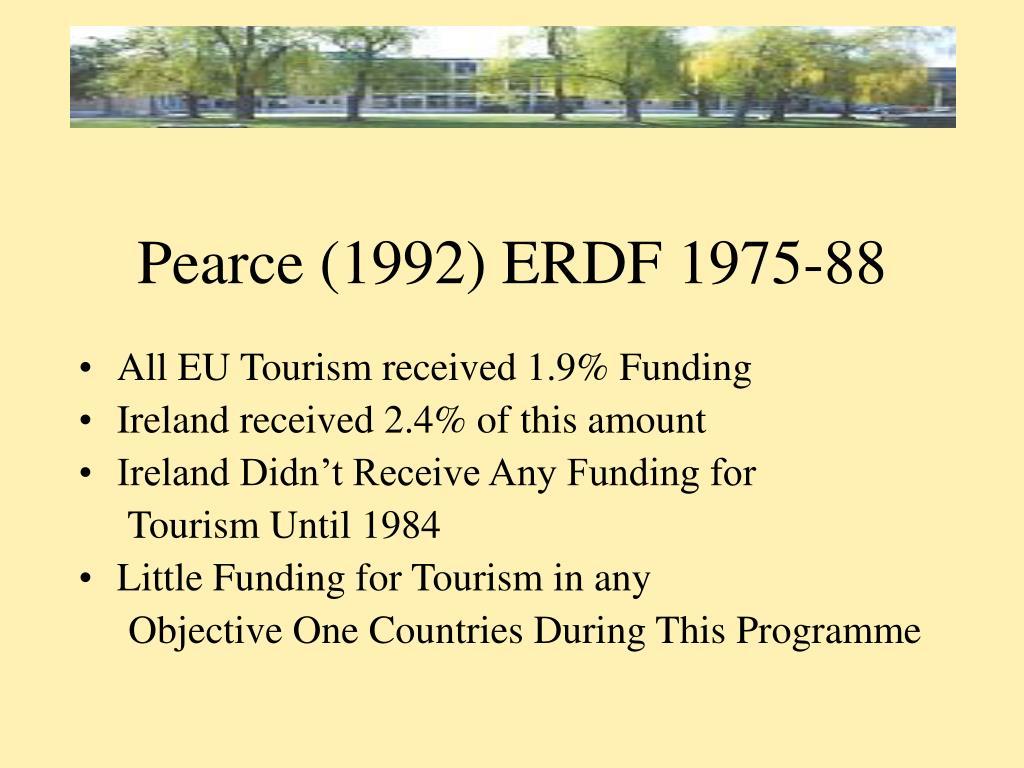 Pearce (1992) ERDF 1975-88