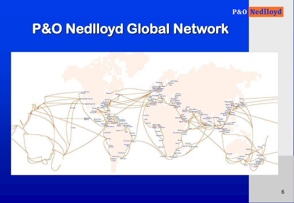P&O Nedlloyd Global Network