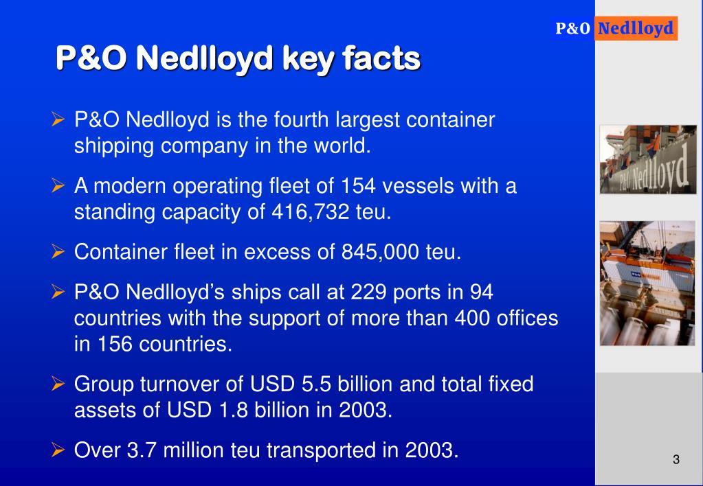 P&O Nedlloyd key facts