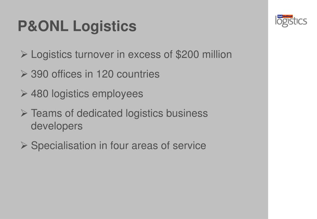 P&ONL Logistics