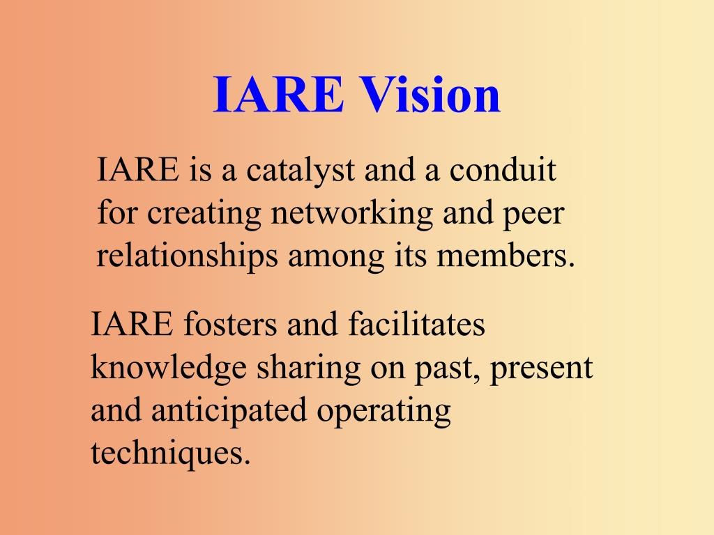 IARE Vision